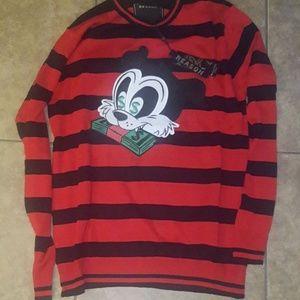 New Dynasty stripe knit crewneck M